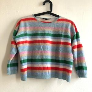 Max Mara Weekend Striped Fuzzy Crop Top Sweater